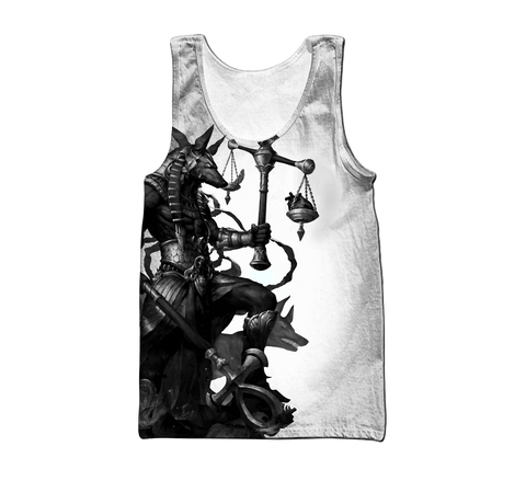 1stIceland Ancient Egypt Anubis Tattoo Men's Tank Top TH12 - 1st Iceland
