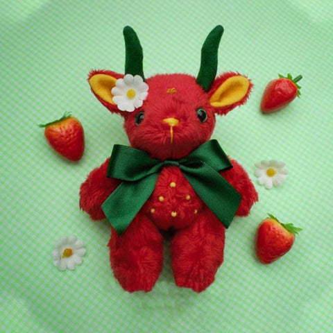 Image of Strawberry Baphomet Plushie