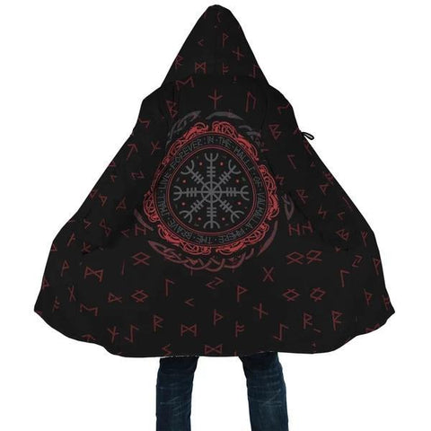 Image of 1stIceland Viking Hooded Cloak, Helm Of Awe Runes K5 - 1st Iceland