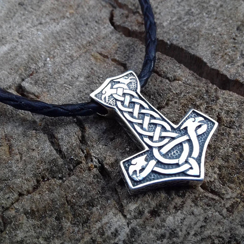 Image of 1stIceland Jewelry, Norse Vikings Thor's Hammer Stainless Steel Necklace - 1st Iceland