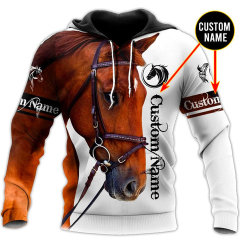 (Custom) 1sticeland Horse Hoodie TH12 - 1st Iceland