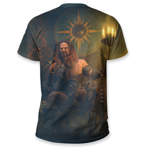 1stIceland Viking T Shirt, Viking Chief With The Ax  K5 - 1st Iceland