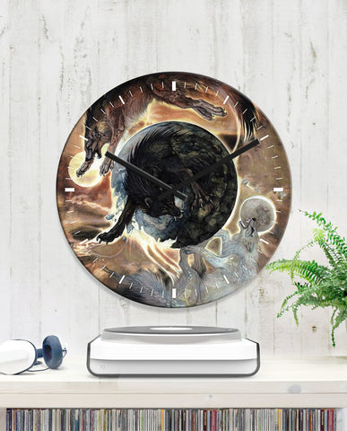 1stIceland Viking Wall Clock, Fenrir Skoll and Hati K7 - 1st Iceland
