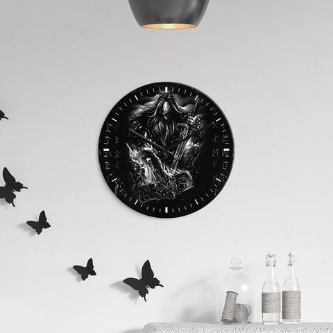 1stIceland Viking Wall Clock - Valhalla Lover of Darkness K7 - 1st Iceland