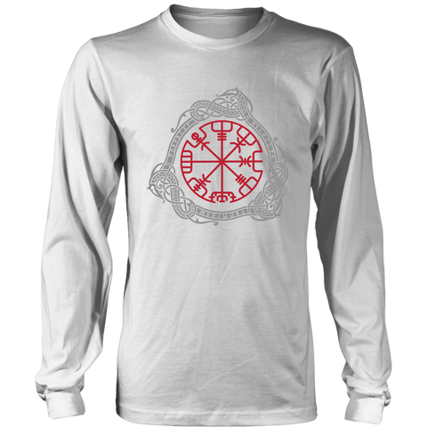 Image of 1stIceland Viking T-Shirt, Magical Runic Compass Vegvisir A7 - 1st Iceland