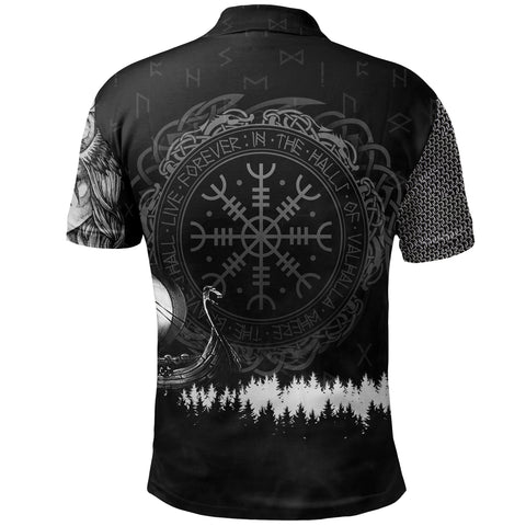 Image of 1stIceland Viking Polo Shirt, Valkyrie Wolf K5 - 1st Iceland