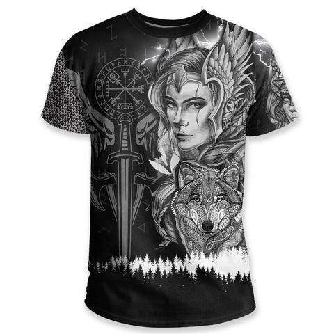 Image of 1stIceland Viking T Shirt, Valkyrie Wolf K5 - 1st Iceland