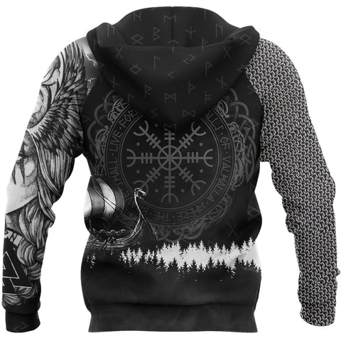 1stIceland Viking Pullover Hoodie, Valkyrie Wolf K5 - 1st Iceland