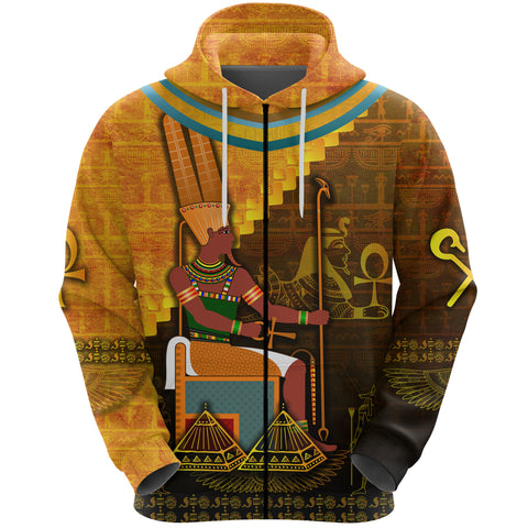 Image of 1stIceland Amun Zip Hoodie Egyptian God K8 - 1st Iceland