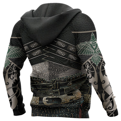 Image of 1stIceland Viking Armor 3D Zip Hoodie God Of War - Emerald Green K8 - 1st Iceland