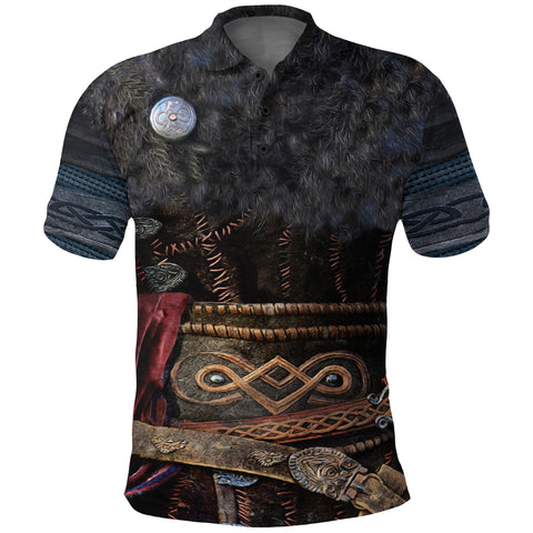 Image of 1stIceland Viking Armor Valhalla Polo Shirt K4 - 1st Iceland