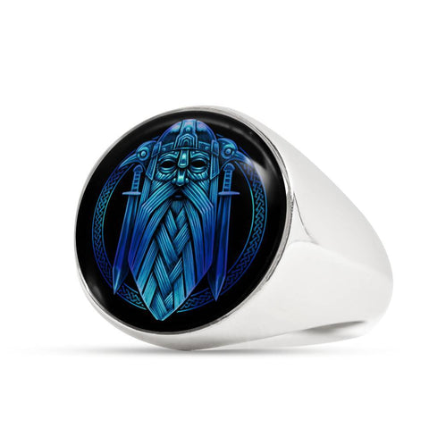1stIceland Crest Ring, Odin Nordic Mythology Swords J8 - 1st Iceland