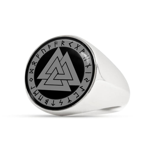 Image of 1stIceland Viking Ring, Valknut Rune Circle A4 - 1st Iceland