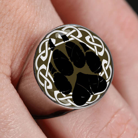 Image of 1stIceland Crest Viking Ring, Bear Paw J8 - 1st Iceland