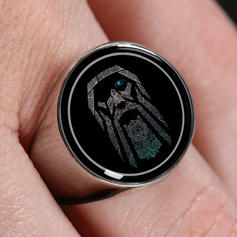 Image of 1stIceland Viking Ring, Odin Norse Mythology A4 - 1st Iceland