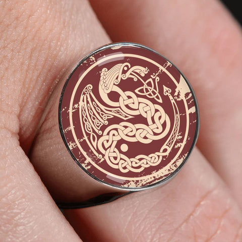1stIceland Crest Viking Ring, Dragon J8 - 1st Iceland