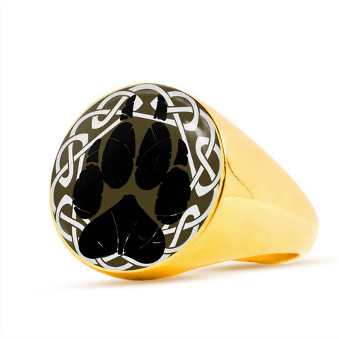 1stIceland Crest Viking Ring, Bear Paw J8 - 1st Iceland