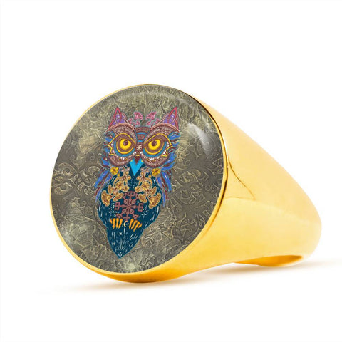 1stIceland Crest Viking Ring, Owl Celtic J8 - 1st Iceland