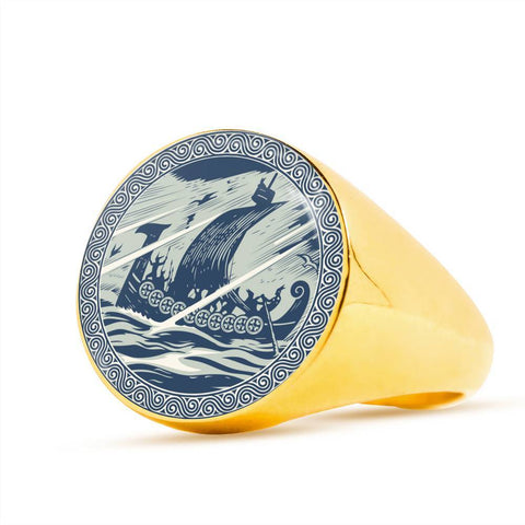 Image of 1stIceland Crest Viking Ring, Darkkannanan J8 - 1st Iceland