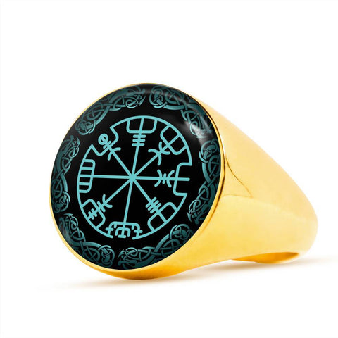 1stIceland Viking Ring , Vegvisir Limited Version A8 - 1st Iceland