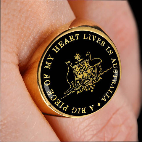 Image of 1stIceland Ring, Australia Coat Of Arms J8 - 1st Iceland