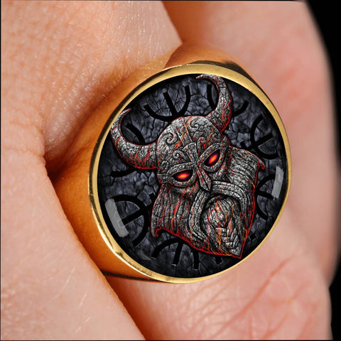 1stIceland Viking Ring, Odin Norse Mythology Th7 - 1st Iceland