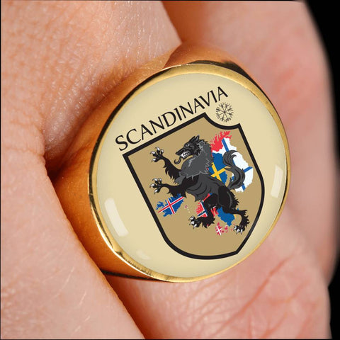 Image of 1stIceland Crest Viking Ring, Scandinavia J8 - 1st Iceland
