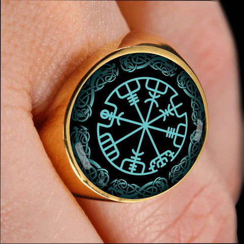 Image of 1stIceland Viking Ring , Vegvisir Limited Version A8 - 1st Iceland