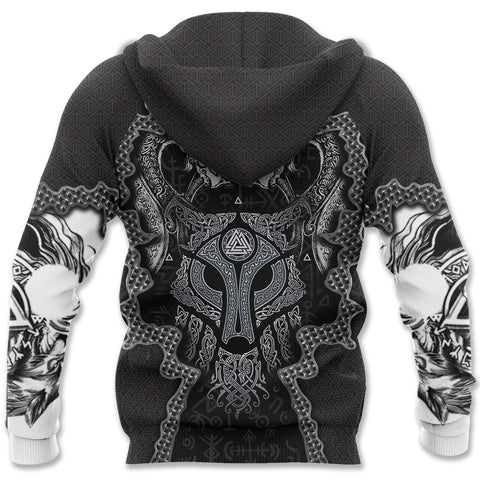 1stIceland Viking Zip Hoodie - Skoll and Hati Wolves of Ragnarok K8 - 1st Iceland