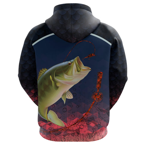 1stIceland Bass Fishing Hoodie K8 - 1st Iceland