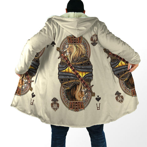 1st Iceland King Ace Spade Lion Poker Hooded Cloak TH12 - 1st Iceland