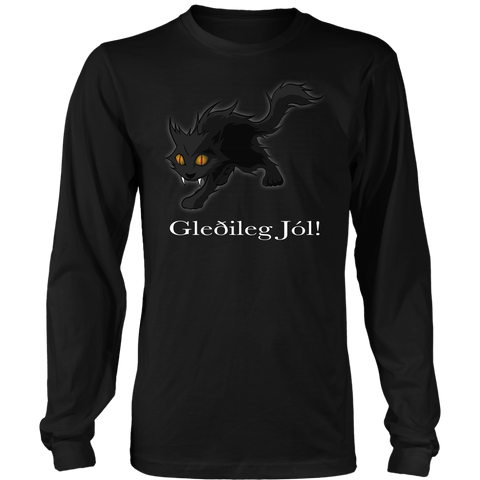 1stIceland Long Sleeve T-Shirts , Yule Cat A9 - 1st Iceland