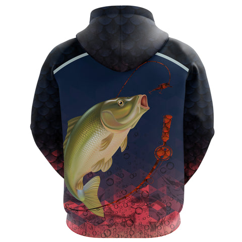 1stIceland Carp Fishing Zip Up Hoodie K8 - 1st Iceland