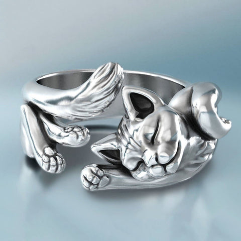 Sterling Silver Cat Ring TH17 - 1st Iceland