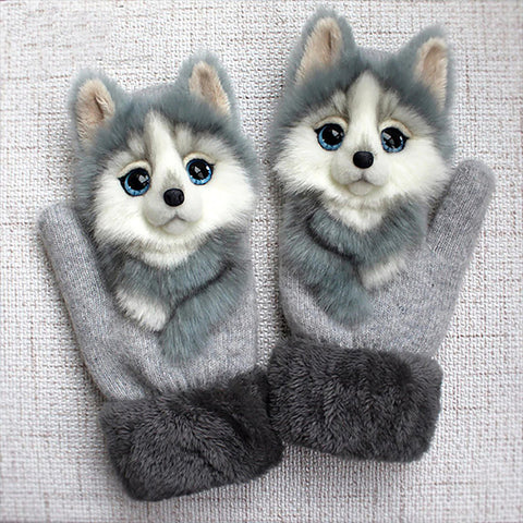 Adorable Doggy Plush Gloves TH7