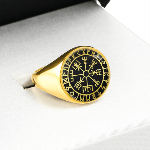 1stIceland Viking Ring, Vegvisir Runes Circle A6 - 1st Iceland