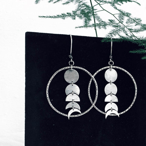 Moon Phases Hoops Earrings - 1st Iceland