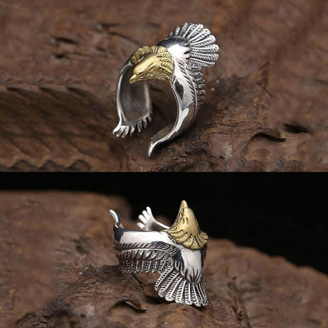 Sterling Silver Eagle Ring TH17 - 1st Iceland