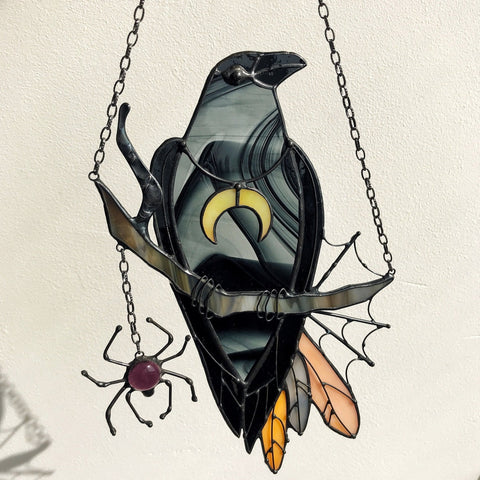Image of Mystical Crow Witch Decor Suncatcher TH10 - 1st Iceland