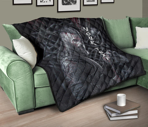 (Custom Personalised) 1stIceland Viking Ragnar Premium Quilt Valknut With Raven K8 - 1st Iceland