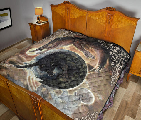 Image of 1stIceland Viking Premium Quilt, Fenrir Skoll And Hati K6 Gold - 1st Iceland