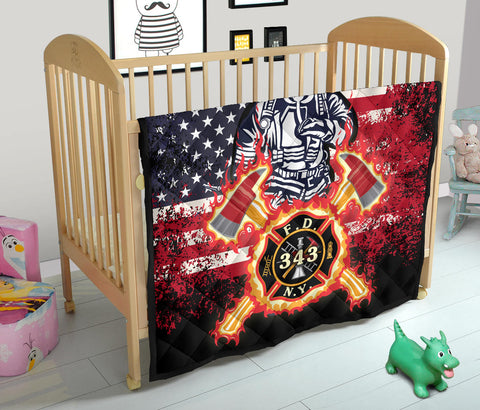 Image of 1stIceland American Firefighters Premium Quilt 9.11.01 Memorial K8 - 1st Iceland