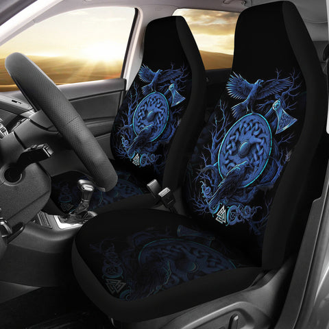 1stIceland Viking Car Seat Covers, Odin's Raven Shield Axe