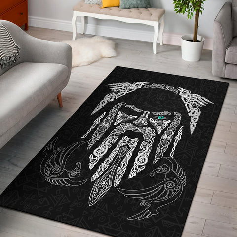 Image of 1stIceland Viking Area Rug, Odin's Eye with Raven