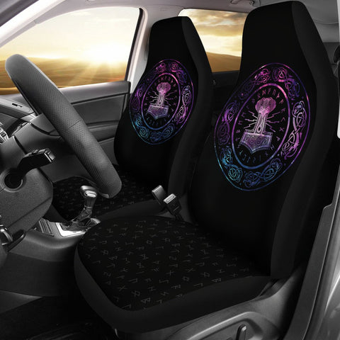 1stIceland Viking Car Seat Covers, Mjolnir Thor's Hammer Ha8-4 - 1st Iceland