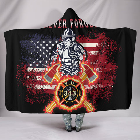 1stIceland American Firefighters Hooded Blanket 9.11.01 Memorial K8 - 1st Iceland