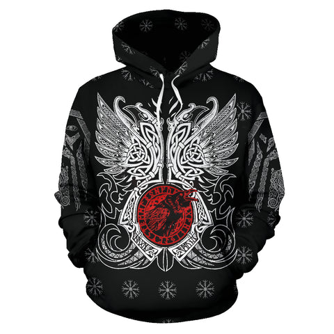 Image of 1stIceland Viking Pullover Hoodie, Odin Raven Mjolnir Son Of Odin TH00 - 1st - 1st Iceland