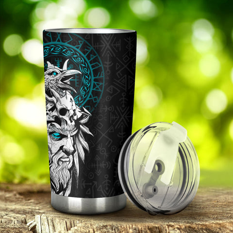 1stIceland Viking Odin And Raven Turquoise Tumbler
