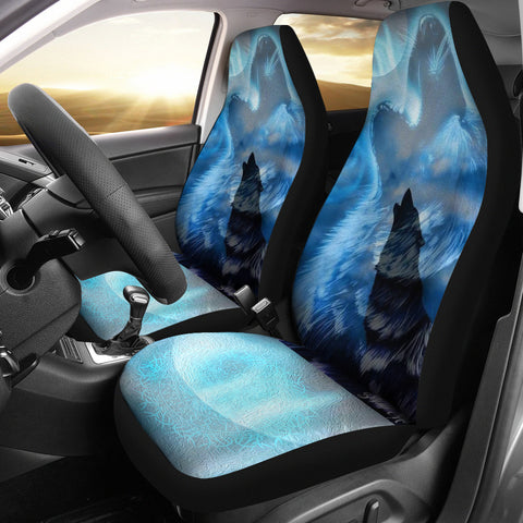 Image of 1stIceland Viking Wolf Car Seat Covers Love Aegishjalmur Version 2 K13 - 1st Iceland