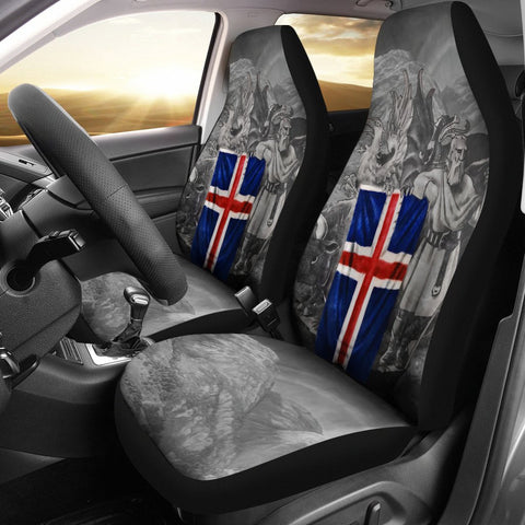 1stIceland Car Seat Covers, Iceland Flag Coat Of Arms Th7 - 1st Iceland